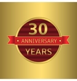 Anniversary 30 years vector image vector image