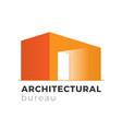 architectural bureau logo vector image
