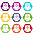 backpack education icons set 9 vector image vector image