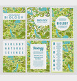 biology cards science templates and banners vector image vector image