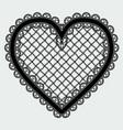 black lace mesh heart feminine luxury element for vector image vector image