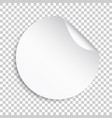 blank sticker icon empty promotional label with vector image