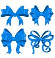 blue silky ribbon bows vector image