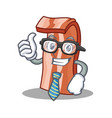 businessman bacon character cartoon style vector image vector image