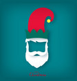 christmas elf assistant to santa claus vector image