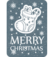 christmas greeting card grey vector image vector image