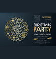 christmas party invitation for french joyeux noel vector image vector image