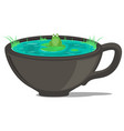 coffee cup pond vector image vector image