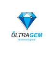 construction industry logotype 3d engineering vector image vector image