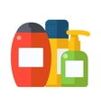 Cosmetic packaging plastic shampoo or shower gel vector image vector image