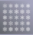 cute snowflakes collection isolated on gradient vector image vector image