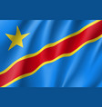 democratic republic of the congo flag vector image vector image
