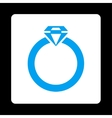 Diamond Ring Icon from Commerce Buttons OverColor vector image