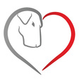 Dog Heart vector image vector image