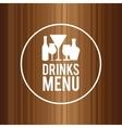 Drink design menu icon Flat vector image vector image