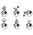 earth resources icons set vector image