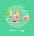 efficient design of room vector image vector image