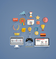 flat icons gamification vector image