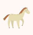 funny horse with smiling farm animal cartoon vector image