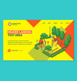 green city park concept landing web page template vector image
