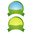 green sunrise banners vector image vector image