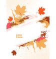 grungy autumn vector image vector image