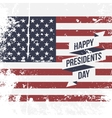 happy presidents day usa grunge flag background vector image