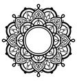 indian mandala art with empty space vector image