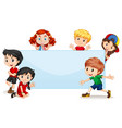 international kids blank banner vector image vector image