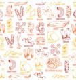 italian pasta seamless pattern vector image vector image