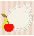 lace and apple vector image vector image