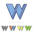 letter W design vector image vector image