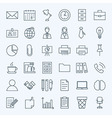 Line Business Office Icons Set vector image vector image