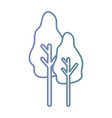 line natural trees to ecology care vector image vector image