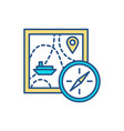 maritime travel rgb color icon vector image