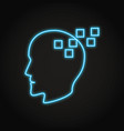 memory loss concept icon in neon style vector image vector image