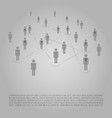 networks - business connections - social media vector image