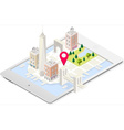 NYC Map 02 Building Isometric vector image vector image