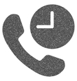 Phone Time Grainy Texture Icon vector image