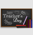 poster for happy teacher s day with nice and vector image vector image