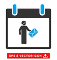 Postman Calendar Day Eps Icon vector image vector image