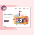 promotion website landing page design vector image vector image