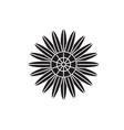 protea black concept icon protea flat vector image