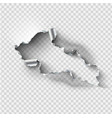 ragged hole torn in ripped steel metal on vector image vector image