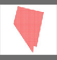 red dot map of nevada vector image vector image