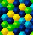 Relief Emerald Hexagons vector image vector image