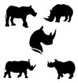 RhinoSet vector image vector image
