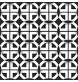 Seamless geometric pattern of black and white vector image vector image
