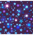 Seamless with shiny blue stars vector image