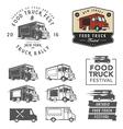set food truck festival emblems badges and des vector image vector image